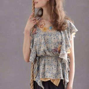 Anthro MOTH Chantilly Begonia Blouse